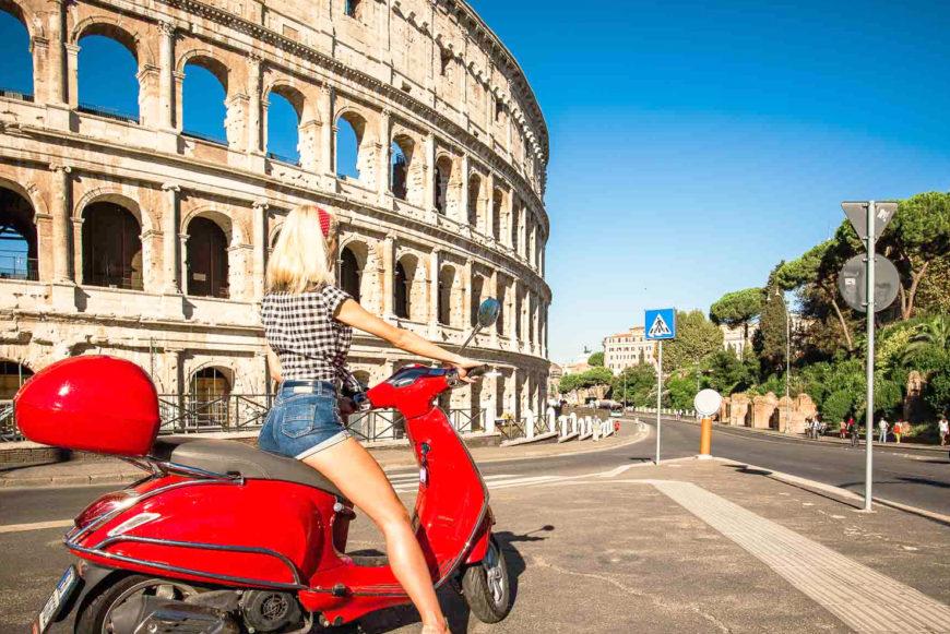 Рим на мопеде